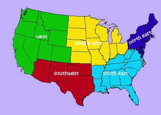 Drown s social studies classtour regions of the united states home